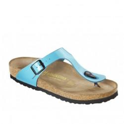 Birkenstock Gizeh blauw lak